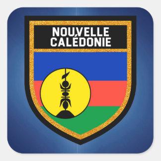 Adesivo Quadrado Bandeira de Nova Caledônia