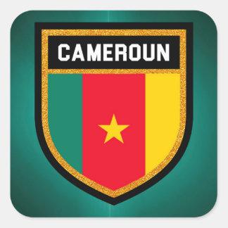 Adesivo Quadrado Bandeira de República dos Camarões