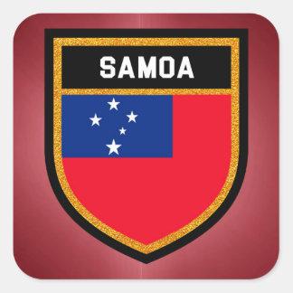 Adesivo Quadrado Bandeira de Samoa