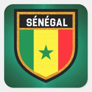 Adesivo Quadrado Bandeira de Sénégal