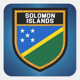 Adesivo Quadrado Bandeira de Solomon Island