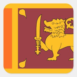 Adesivo Quadrado Bandeira de Sri Lanka