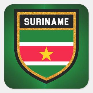 Adesivo Quadrado Bandeira de Suriname