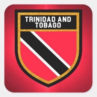 Adesivo Quadrado Bandeira de Trinidad and Tobago