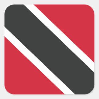 Adesivo Quadrado Bandeira de Trinidadtobago