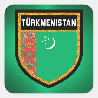 Adesivo Quadrado Bandeira de Turkmenistan