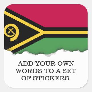 Adesivo Quadrado Bandeira de Vanuatu