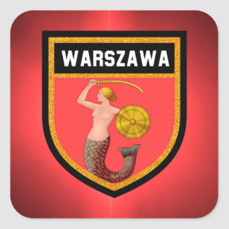 Adesivo Quadrado Bandeira de Varsóvia