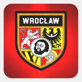 Adesivo Quadrado Bandeira de Wrocław