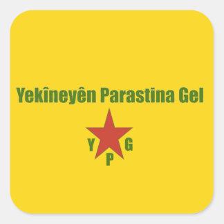 Adesivo Quadrado Bandeira de YPG