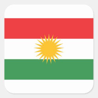 Adesivo Quadrado Bandeira do Curdistão; Curdo; Curdo