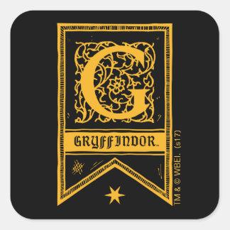 Adesivo Quadrado Bandeira do monograma de Harry Potter | Gryffindor
