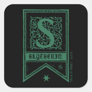 Adesivo Quadrado Bandeira do monograma de Harry Potter | Slytherin