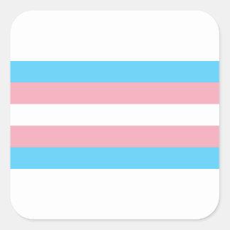 Adesivo Quadrado Bandeira do orgulho do Transgender - arco-íris do