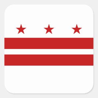Adesivo Quadrado Bandeira do Washington DC
