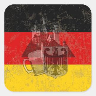 Adesivo Quadrado Bandeira e símbolos de Alemanha ID152