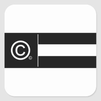 Adesivo Quadrado Bandeira incorporada do logotipo