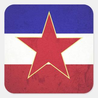 Adesivo Quadrado Bandeira Iugoslávia