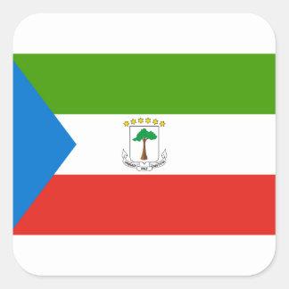 Adesivo Quadrado Bandeira nacional do mundo da Guiné Equatorial