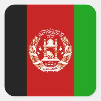 Adesivo Quadrado Bandeira nacional do mundo de Afeganistão