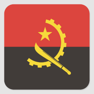 Adesivo Quadrado Bandeira nacional do mundo de Angola