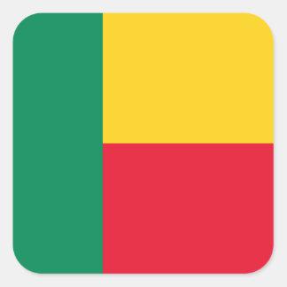 Adesivo Quadrado Bandeira nacional do mundo de Benin