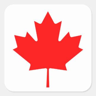 Adesivo Quadrado Bandeira nacional do mundo de Canadá