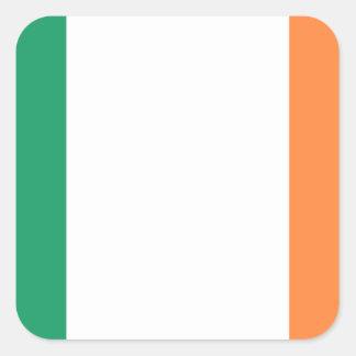 Adesivo Quadrado Bandeira nacional do mundo de Ireland