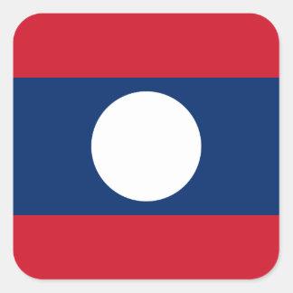 Adesivo Quadrado Bandeira nacional do mundo de Laos