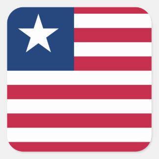 Adesivo Quadrado Bandeira nacional do mundo de Liberia