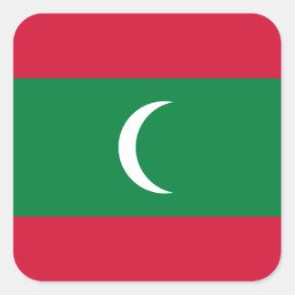 Adesivo Quadrado Bandeira nacional do mundo de Maldives