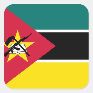 Adesivo Quadrado Bandeira nacional do mundo de Mozambique