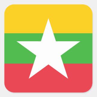 Adesivo Quadrado Bandeira nacional do mundo de Myanmar