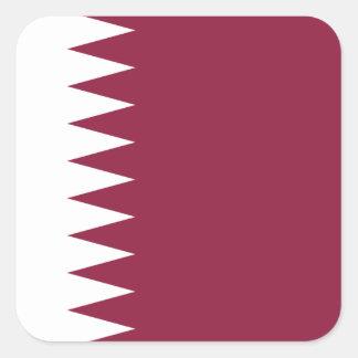 Adesivo Quadrado Bandeira nacional do mundo de Qatar
