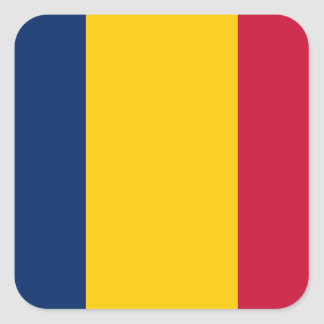 Adesivo Quadrado Bandeira nacional do mundo de República do Tchad