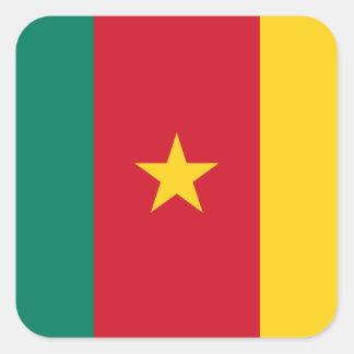 Adesivo Quadrado Bandeira nacional do mundo de República dos
