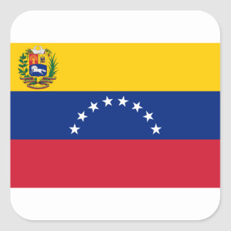 Adesivo Quadrado Bandeira venezuelana - bandeira de Venezuela -