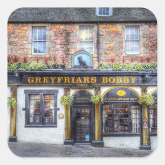 Adesivo Quadrado Bar Edimburgo de Greyfriars Bobby
