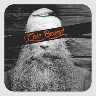 Adesivo Quadrado Barba épico