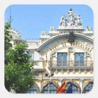 Adesivo Quadrado Barcelona, espanha