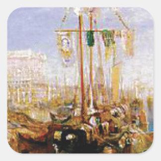 Adesivo Quadrado barco sem velas