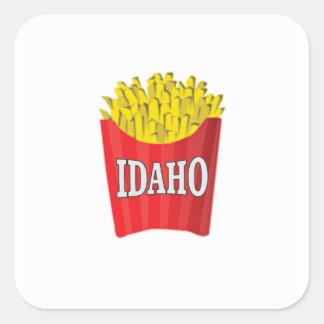 Adesivo Quadrado batatas fritas de idaho