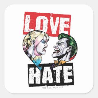 Adesivo Quadrado Batman | Harley Quinn & amor do palhaço/ódio