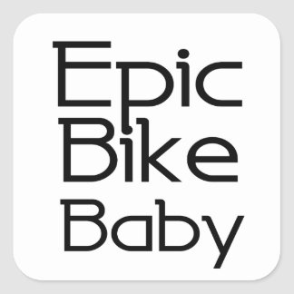 Adesivo Quadrado Bebê épico da bicicleta