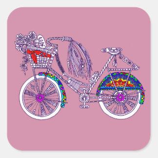 Adesivo Quadrado Bicicleta