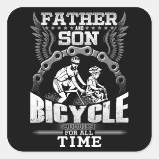 Adesivo Quadrado Bicicleta do filho do pai