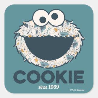 Adesivo Quadrado Biscoito do monstro | do biscoito desde 1969