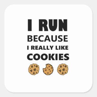 Adesivo Quadrado Biscoitos para a saúde, corredor do funcionamento