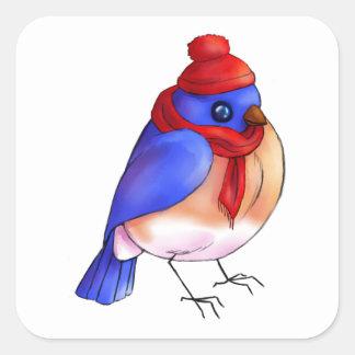 Adesivo Quadrado Bluebird do inverno