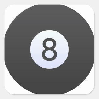Adesivo Quadrado Bola 8